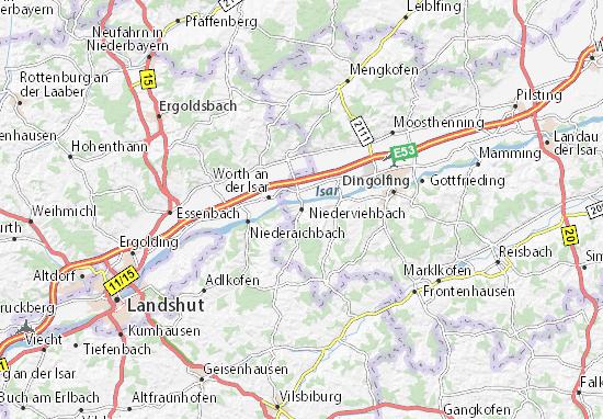 Carte-Plan Niederviehbach