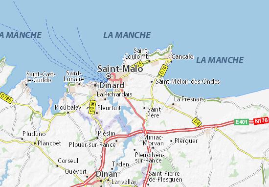 Saint Malo carte