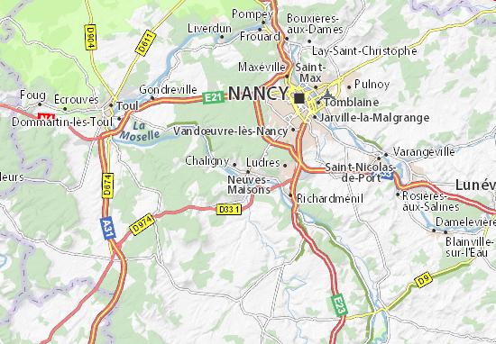 Neuves-Maisons Map