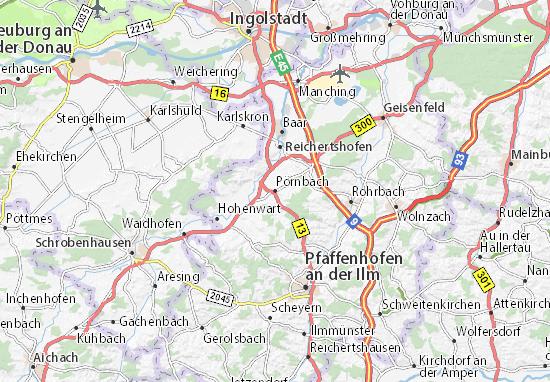 Carte-Plan Pörnbach
