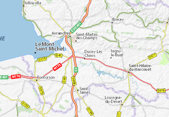 Ducey-Les Chéris Map