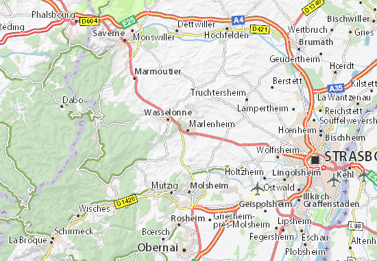 Karte Stadtplan Marlenheim