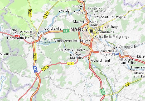 Chaligny Map