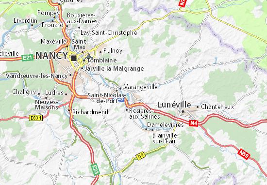 Karte Stadtplan Dombasle-sur-Meurthe