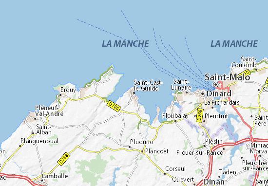 Carte-Plan Saint-Cast-le-Guildo