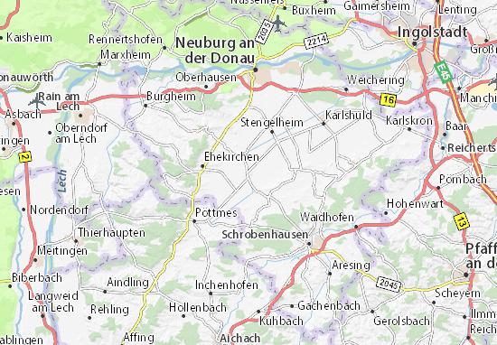 Karte Stadtplan Königsmoos