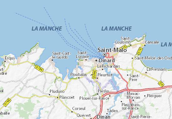 Carte-Plan Saint-Lunaire