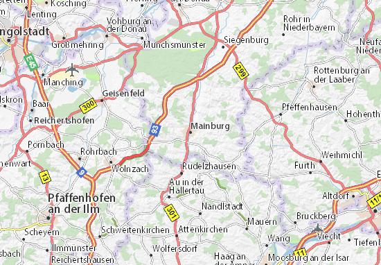 Carte-Plan Mainburg