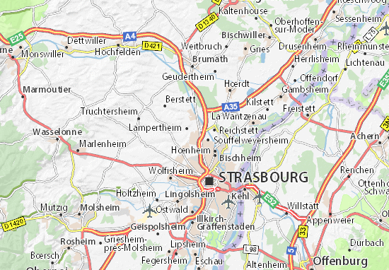 Karte Stadtplan Mundolsheim