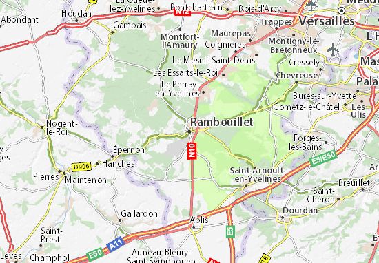 Rambouillet Map
