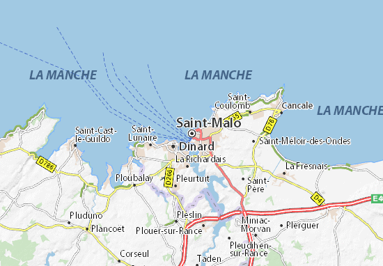 carte de saint malo Map of Saint Malo   Michelin Saint Malo map   ViaMichelin