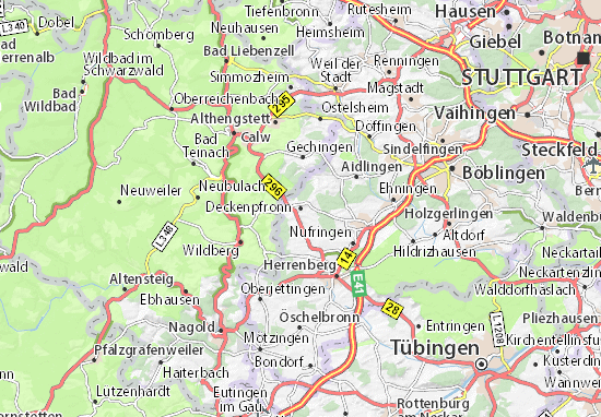 Deckenpfronn Map