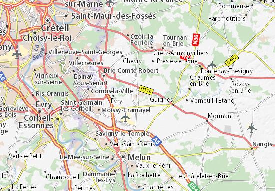 Kaart Plattegrond Soignolles-en-Brie