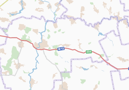 Carte-Plan Skalivs'ki Khutory