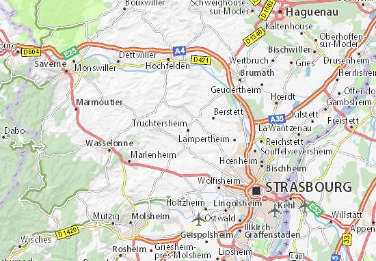 Kaart Plattegrond Truchtersheim