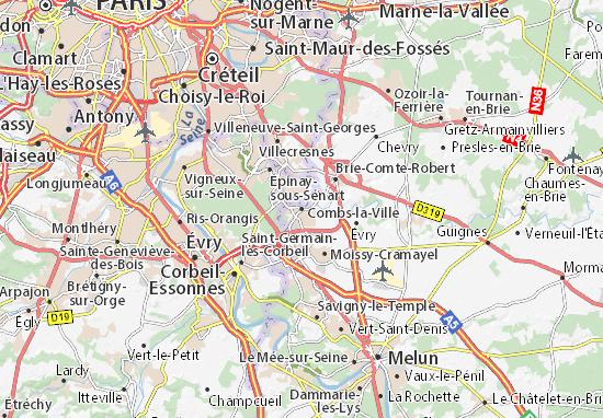 Combs-la-Ville Map