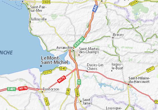 Mapas-Planos Saint-Martin-des-Champs