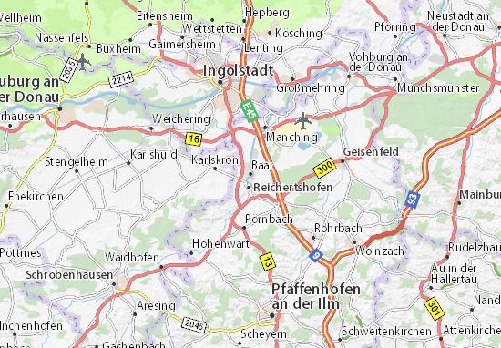 Karte Stadtplan Baar