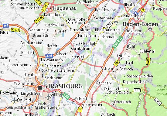 Freistett Map