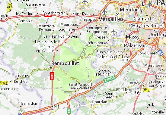 Carte-Plan Cernay-la-Ville