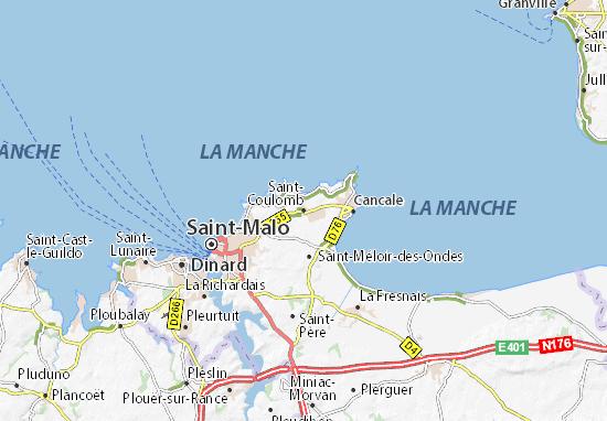 Mapas-Planos Saint-Coulomb
