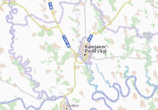 Mapa Plano Zin'kivtsi