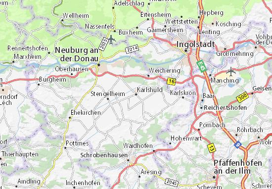 Karte Stadtplan Karlshuld