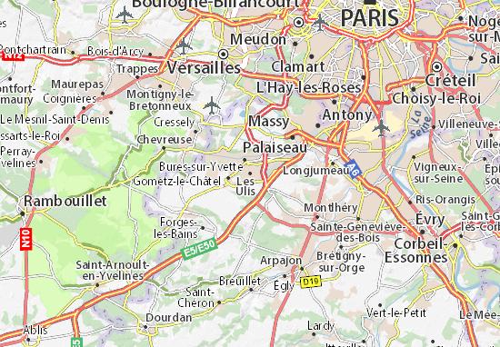 Mapa Plano Les Ulis