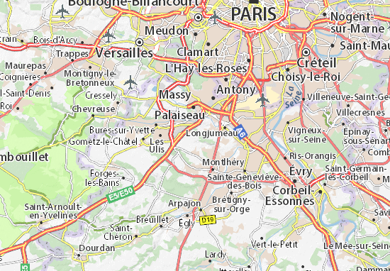 villejust map detailed maps for the city of villejust viamichelin. Black Bedroom Furniture Sets. Home Design Ideas