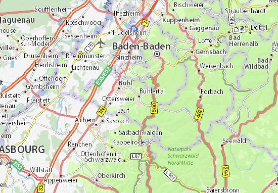 Kaart Plattegrond Bühlertal