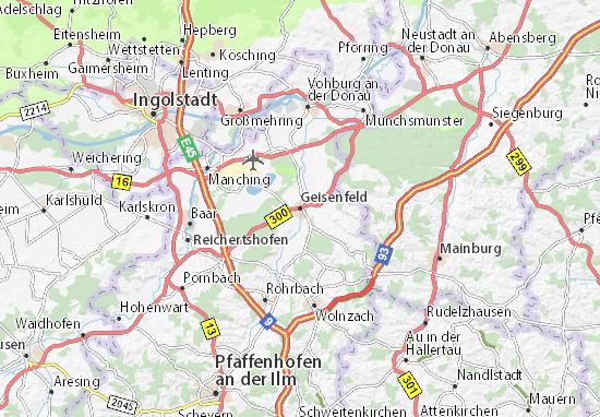 Karte Stadtplan Geisenfeld