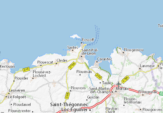 Saint-Pol-de-Léon Map
