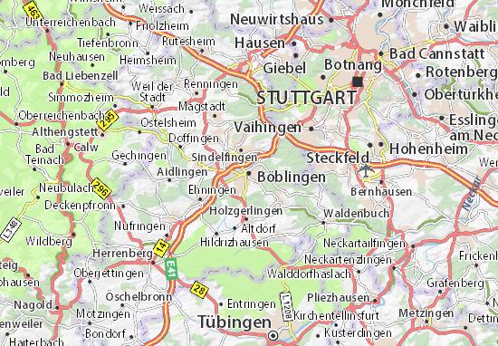Mapas-Planos Böblingen
