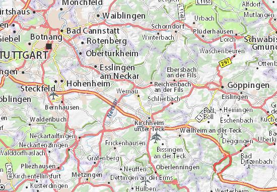 Karte Stadtplan Wernau