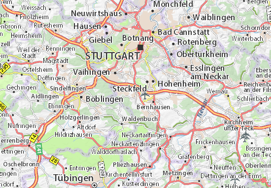 Kaart Plattegrond Echterdingen