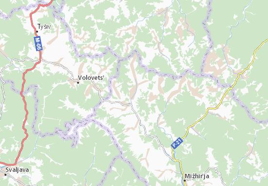 Nyzhnii Studenyi Map