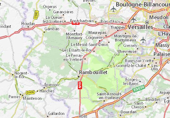 Mapa Plano Le Perray-en-Yvelines