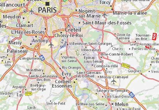 Brunoy Map