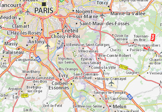 Épinay-sous-Sénart Map