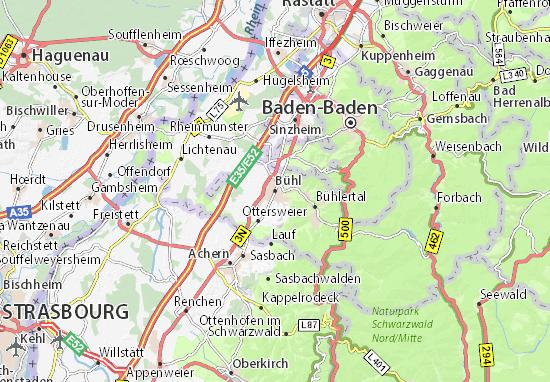 Karte Stadtplan Bühl