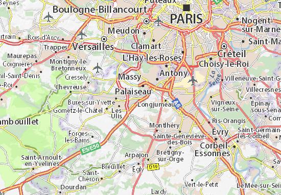 Carte-Plan Villebon-sur-Yvette