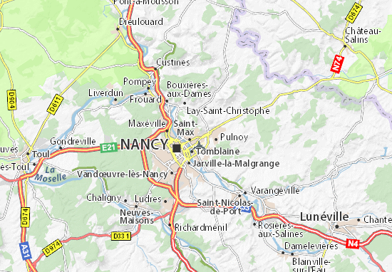 Mappe-Piantine Essey-lès-Nancy