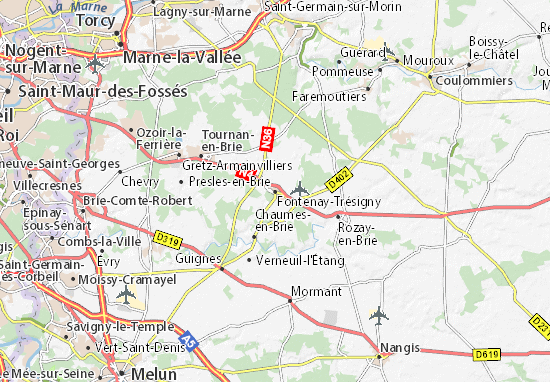 Mappe-Piantine Fontenay-Trésigny