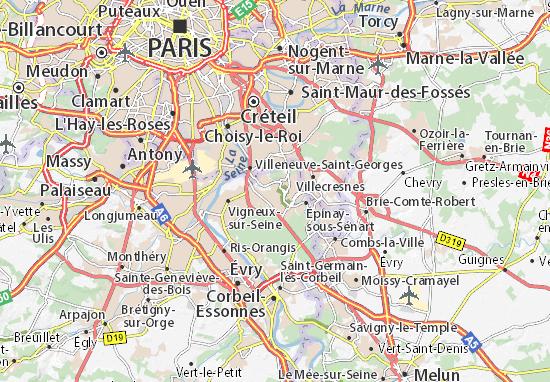 Yerres Map