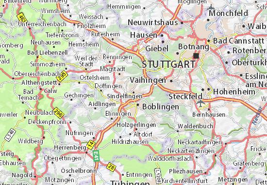 Karte Stadtplan Sindelfingen