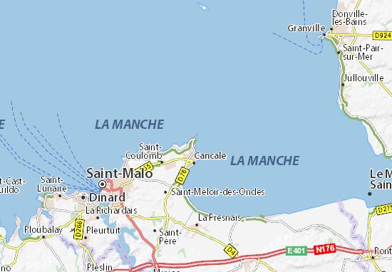 Carte Bretagne Cancale.Carte Detaillee Pointe Du Grouin Plan Pointe Du Grouin