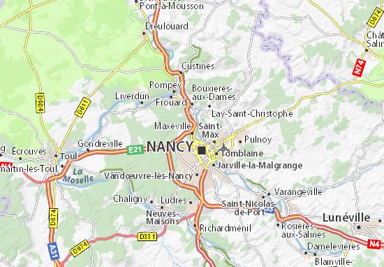 Kaart Plattegrond Maxéville