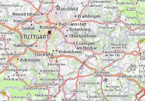 Karte Stadtplan Nellingen