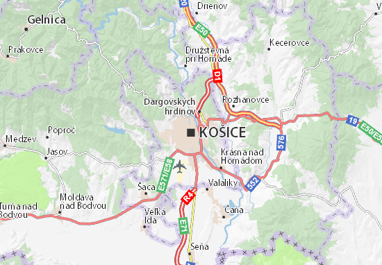 Košice Map