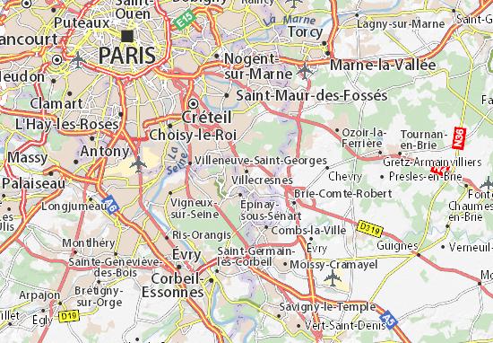 Villecresnes Map